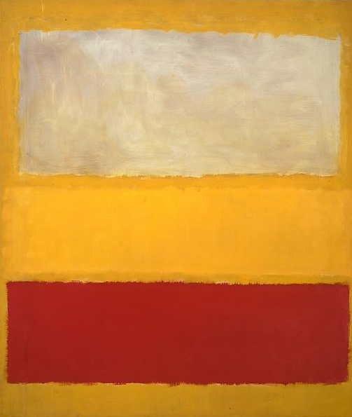"""Nº 13 (Blanco, rojo sobre amarillo)"" de Mark Rothko (1958)"